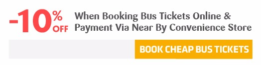 10% off booking bus tickets online and payment via Payoo