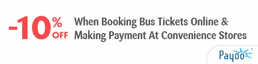 10% off when booking bus ticket and payment via Payoo